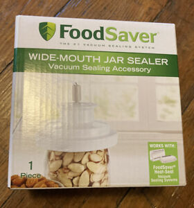 FoodSaver Wide Mouth Mason Jar Vacuum Sealer New Ships fast T03 0023 01P $49.99