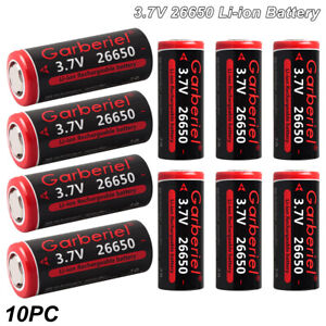 Lot 26650 Li ion Battery 3.7V Rechargeable Batteries For led Torch amp; Flashlight