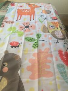 New Kids Multi Designs Shower Curtain With Plastic Hooks 72 Inches