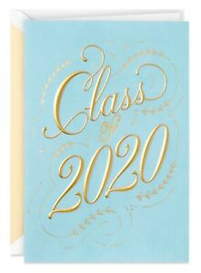 Graduation Card Script and Laurels Class of 2020 Graduation Card