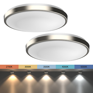 2 PACK 11 LED Ceiling Light Flush Mount Adjustable Light Color Dimmable