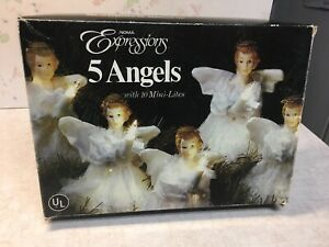 NOMA Vintage Expressions Angels Light Set Christmas Decor Tree Lights