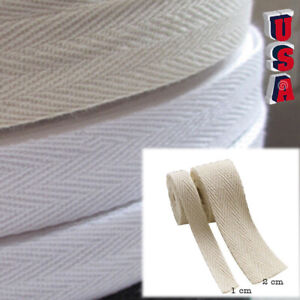 49M Cotton Binding Tape Bias Ribbon Strap Sewing Craft Webbing Trim Drawstring $8.45