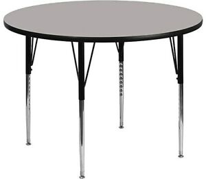 Flash Furniture Round Activity Table Gray XUA42RNDGYHA