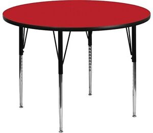 Flash Furniture Round Activity Table Red XUA48RNDREDHA $163.86