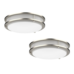 2 PACK Dimmable LED Flush Mount Ceiling Light Fixture Ring Modern 10 12 14 16
