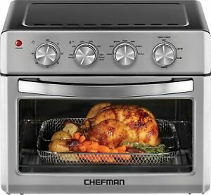 Chefman 25 L Analog Air Fryer Toaster Oven 6 Slice Convection w Auto Sh...