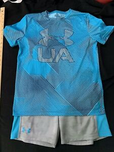 Boys Under Armour Set UA Shorts L Shirt Youth XLarge $15.00