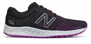 New Balance Womens Fresh Foam Arishi v2 Shoes Black with Purple amp; Silver $35.80