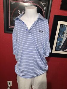 Blue And White Under Armor Polo Size XL $19.00