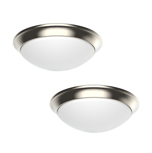 2 PACK Dimmable LED Flush Mount Ceiling Light Fixture 11quot; Modern Dome 3 Colors $29.99