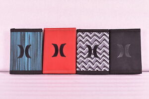 Hurley Honor Roll Tri Fold Wallet w Centered Logo