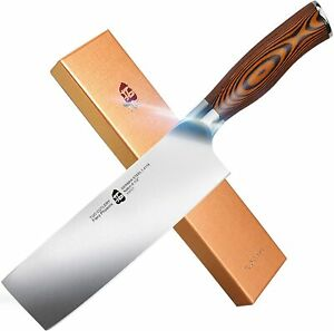 TUO Nakiri Knife Vegetable Cleaver Kitchen Knives Japanese Chef Knife Fiery