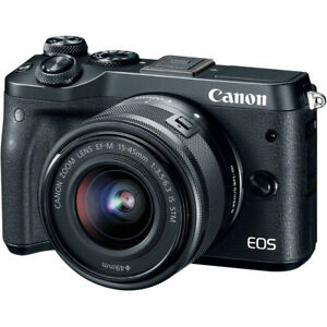 Canon EOS M6 Mirrorless Digital Camera With 15 45mm Lens Black $432.99