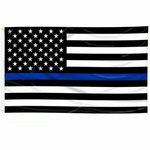 3#x27;x5#x27; FLAG Thin Blue Line Police Lives Matter Law Enforcement American US USA