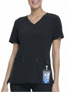 Scrubstar Women#x27;s Fashion Premium Performance Mock Wrap Scrub Top