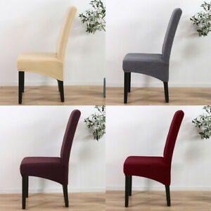 Stretch Spandex Knitted High Back Chair Cover Dining Room Wedding Party Decor YI