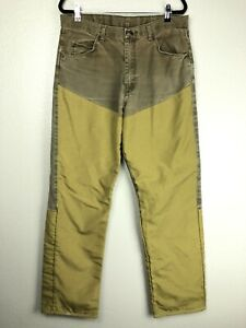Wrangler Pro Gear Upland Bird Hunting Pants Chaps Brown 36 34 Uninsulated Briar