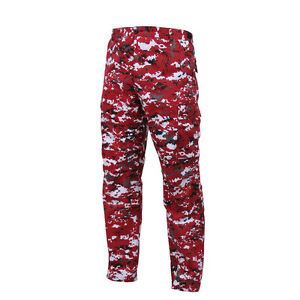 DIGITAL Red Camo BDU Cargo Pants Indians Red Sox Cardinals Reds Phillies Angels $40.99