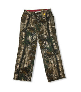 NWT Carhartt 12 Reg Camo Kane Dungaree Pants Relaxed Fit Hunting Women#x27;s Duck