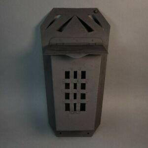 Vintage Antique Metal Black Wall Mailbox Gothic Style Pattern Metal or Cast Iron $62.99
