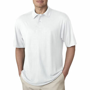 Jerzees Short Sleeve Polyester Polo Sport Shirt For Men Pique Collar Golf Tennis $7.99