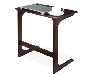 Bamboo Sofa Table Bed Side Table Modern Furniture for Home Office Dark Brown $68.74