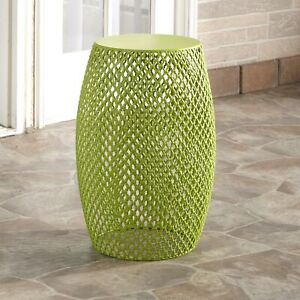 Metal Outdoor Garden Stool Accent Table Side Table or Plant Stand $54.98