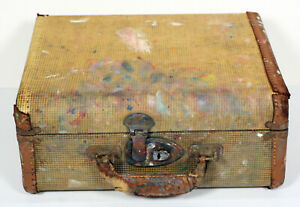 Vintage Artist Paint Box Traveling Supplies Case Hinges amp; Latches Display Prop $37.00
