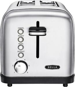 Bella Classics 2 Slice Wide Slot Toaster Stainless Steel $14.99