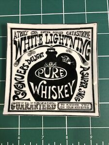 Vintage Whiskey White Lightning Glass Trinket Tray. $9.99