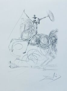 SALVADOR DALI Don Quichotte HAND NUMBERD 726 1200 PLATE SIGNED LITHO Don Quixote $249.00