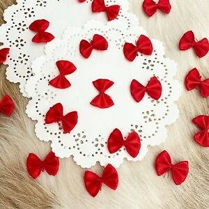 Mini Bowties Red Bows Black Bows Ivory Bows Assorted Craft Bow Satin Sewing $5.50
