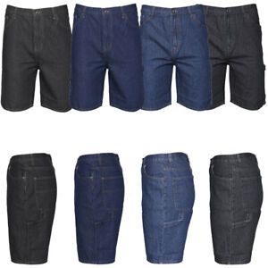 Men#x27;s Denim Jean Shorts Casual Carpenter Style Relaxed Fit Quality Cotton $23.88