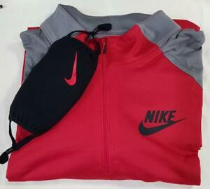Nike Shirt Long Sleeve Mens Large Red amp; Black with Face Mask US Shipped $21.99