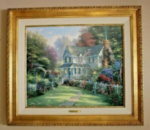 Thomas Kinkade quot;Victorian Garden IIquot; Signed Numbered Framed Canvas with COA 18X2 $950.00