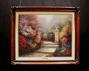 Thomas Kinkade quot;Victorian Gardenquot; S N Framed Canvas Painting With COA 24X30 $1250.00