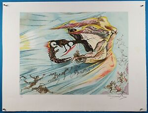 Salvador Dali Signed and Limited quot;Homage to Lincolnquot; Lithograph 1974 $479.99