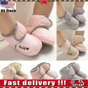 Newborn Baby Shoes Girl amp; Boy Anti Slip Warm Cotton Boots Booties Soft Prewalker $11.89