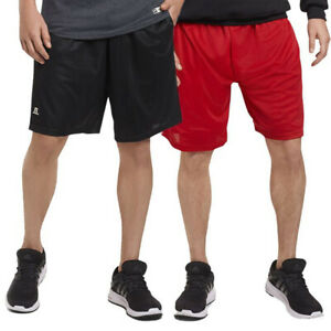 Russell Athletic Mens Shorts With Pockets Mesh Moisture Wicking Gym Activewear $11.19