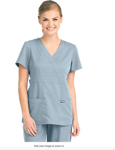 WOMEN Barco Grey ANATOMY SCRUB TOP MOONSTRUCK SIZE SMALL