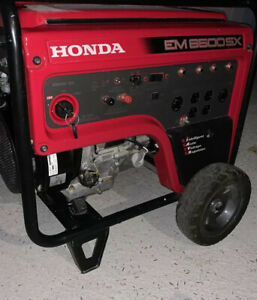 honda generator EM6500SX Good Condition. We Used It For 2 Storms That's It