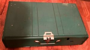 1972 COLEMAN CAMPING STOVE GREEN 2 BURNER RED FUEL TANK model 413gCLASSIC 4 72