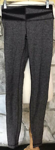 Lululemon Giant Herringbone Wunder Under Black Brown Leggings Pants Size 4 EUC $35.10