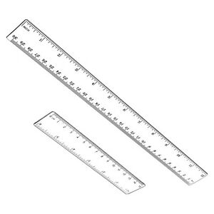 Plastic Ruler Flexible Ruler Measuring Tool 12quot; and 6quot; inch $12.99