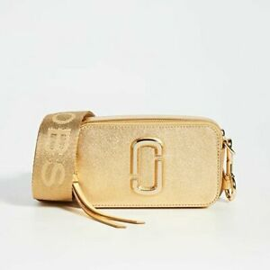 $325 MARC JACOBS Gold DTM Crossbody Camera Bag NWOT $164.99