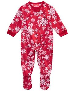 Matching Family PJs Merry Snowflakes One Piece Christmas Pajamas 18 Months #5664 $15.99