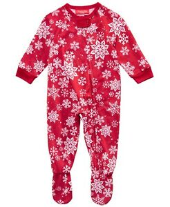 Matching Family PJs Merry Snowflakes One Piece Christmas Pajamas 24 Months #5665 $15.99