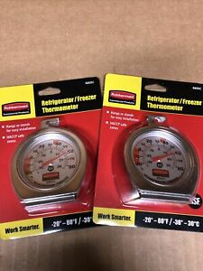 Lot Of 2 Rubbermaid Refrigerator Freezer Thermometer Brand New $12.99