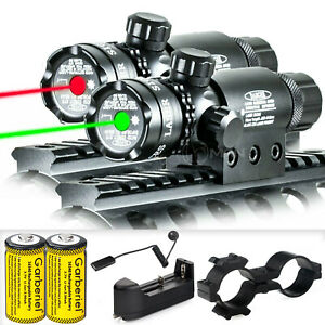 Tactical Green Red Laser Sight Rifle Dot Scope Switch Rail Mounts Hunting US $18.95